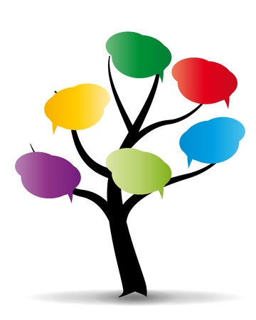 illustration of baloon on stylized tree Stock Vector - 10683937
