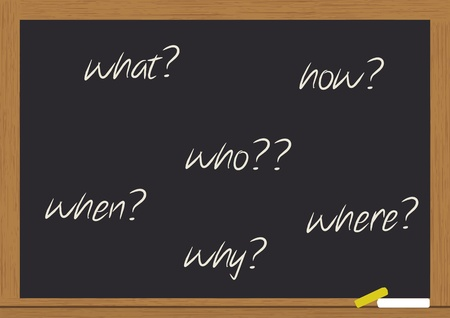 illustration of question on chalkboard Stock Vector - 10683941