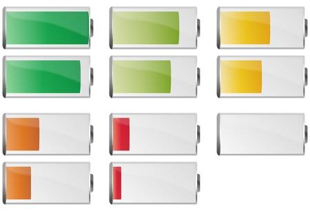 lading: illustratie set van batterij
