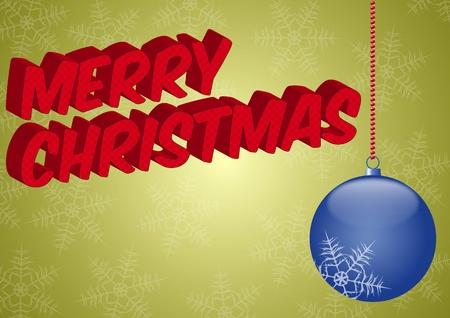 illustration of blue christmas ball Stock Vector - 10871214