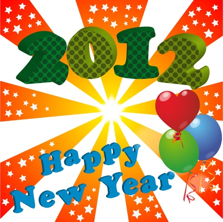 illustration of 2012 happy new year Vector