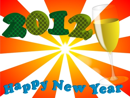 illustration of 2012 happy new year Stock Vector - 10936698