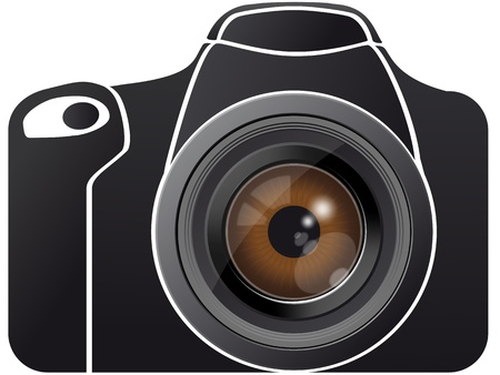 photo of accessories: Illustration of eye lens on photo camera