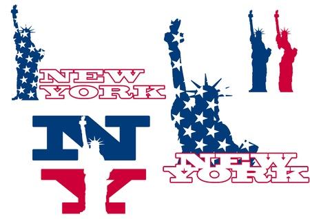 freedom logo: Ilustraci�n de Nueva York y la estatua de la libertad Vectores