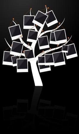 Illustratie van de boom met fotolijst