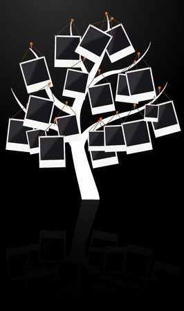 Illustration of tree with photo frame Stock Vector - 10996187