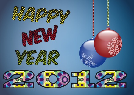 illustration of happy new year 2012 Stock Vector - 11127032