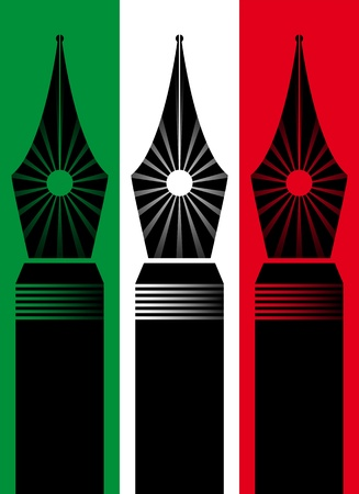 illustration of fountain pen nib Vector