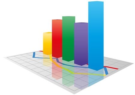 illustration of color  3d graph