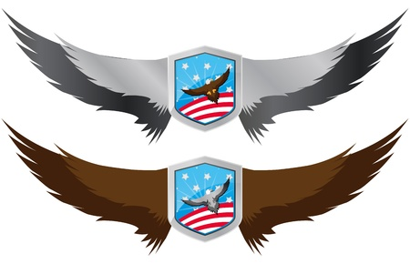 illustration of united of states shield with eagle Stock Vector - 12483268