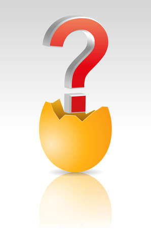 illustration of egg with red question mark Vector