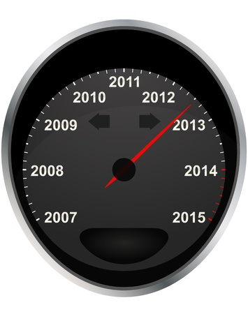 illustration of years odometer, 2012 year Vector