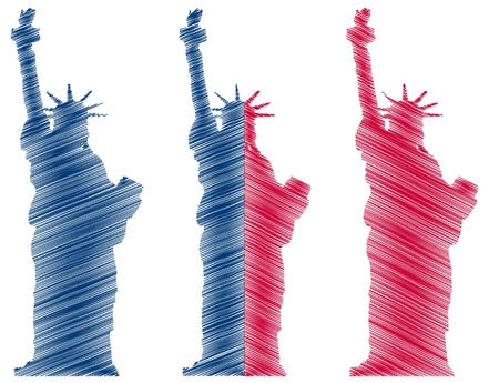 illustration of new york and statue of liberty Stock Vector - 13566153