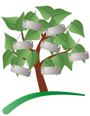 illustration of tree with label Vector