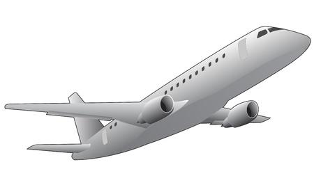 illustratie van het vliegtuig, van onderaf gezien