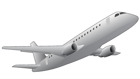 below: illustration of airplane, seen from below