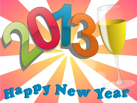 illustration of 2013 happy new year Stock Vector - 14239090