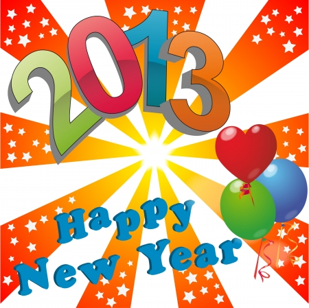 illustration of 2013 happy new year Stock Vector - 14239086