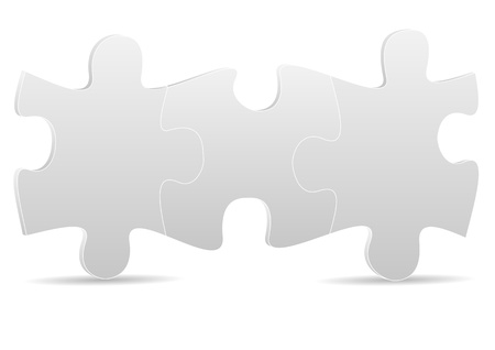 puzzle shadow: illustration of three grey puzzle