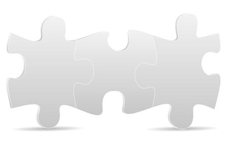 jigsaws: illustrazione di tre puzzle di grigio