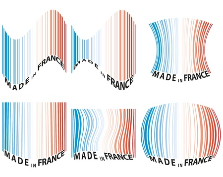 codebar: illustration set of barcode with color of france Illustration