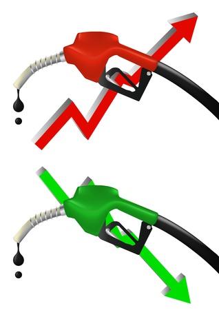 illustration set of petrol pump,increase and decrease Stock Vector - 14505899