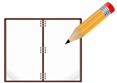 illustration of notebook with pencil Stock Vector - 14554831