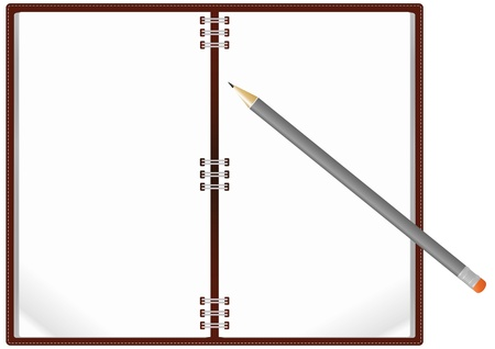 illustration of notebook with pencil Stock Vector - 14554833