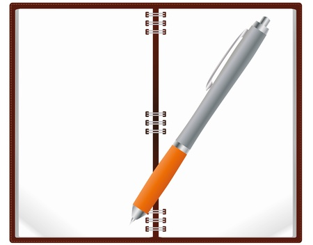 illustration of notebook with pen Stock Vector - 14634914