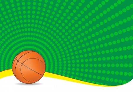 illustration of basket ball with green background Stock Vector - 14849369