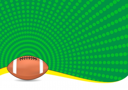 illustration of football ball with green background Stock Vector - 14849372