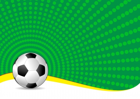 illustration of soccer ball with green background Stock Vector - 14849370
