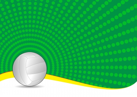 volley ball: illustration of volley ball with green background
