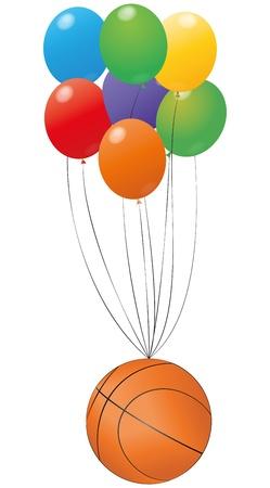 balon baloncesto: ilustraci�n de baloncesto con bal�n colorido
