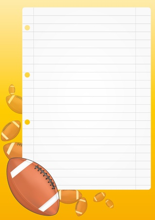 illustration of blank sheet with football Stock Vector - 14849379