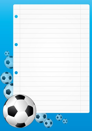 illustration of blank sheet with soccer ball  Stock Vector - 14849377