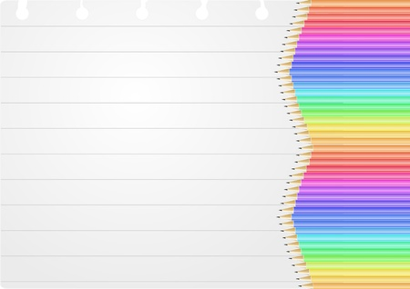 illustration of sheet with colorful pencil Stock Vector - 14888038