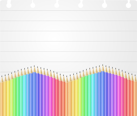 illustration of sheet with colorful pencil Stock Vector - 14888037