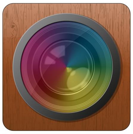 illustration of camera lens with spectrum effect Stock Illustration - 15219511