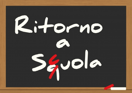 illustration of billboard with back to school text in italian Stock Vector - 15219525