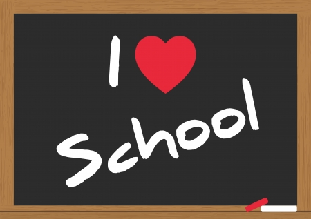 illustration of i love school on the chalkboard Stock Vector - 15011710