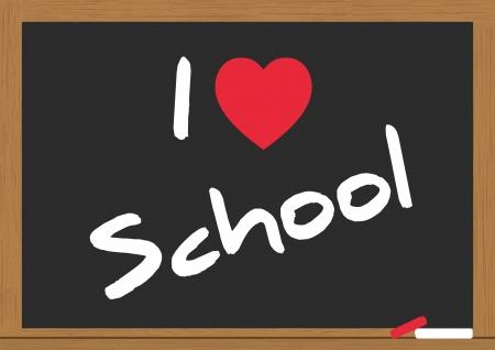 illustration of i love school on the chalkboard Stock Vector - 15011710
