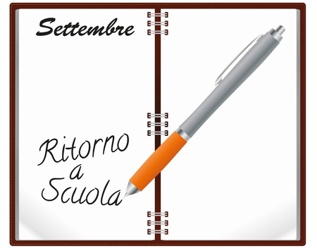 illustration of notebook with ritorno Stock Vector - 15096265