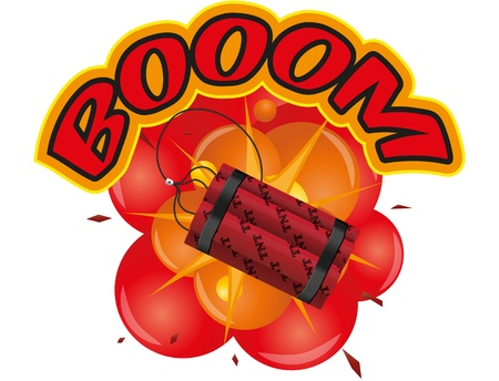 illustration of dynamite with explosion Stock Vector - 15278768