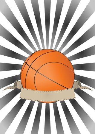 illustration of basketball with vintage banner Stock Vector - 15653725