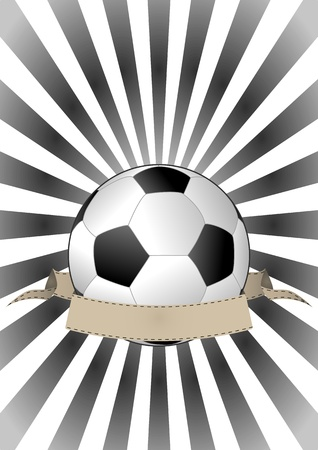 illustration of soccerball with vintage banner Stock Vector - 15653733
