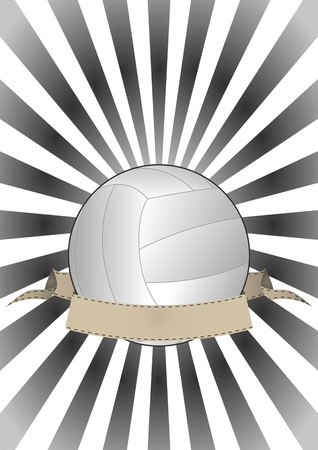 illustration of volleyball with vintage banner Stock Vector - 15653721
