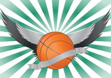 illustration of basketball with wings Stock Vector - 15653730