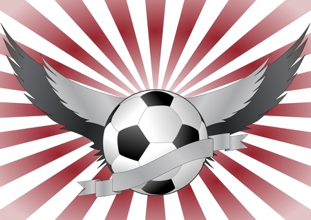 illustration of soccerball with wings Vector