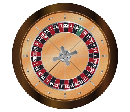 illustration of french roulette, view from above Vector
